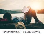 women read books in quiet...   Shutterstock . vector #1160708941
