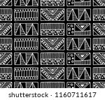 seamless pattern. black and... | Shutterstock . vector #1160711617