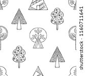 hand drawn seamless pattern ... | Shutterstock . vector #1160711641