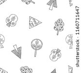 hand drawn seamless pattern ... | Shutterstock . vector #1160711647