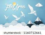 paper art of feel free... | Shutterstock .eps vector #1160712661