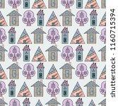 hand drawn seamless pattern... | Shutterstock . vector #1160715394