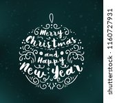 merry christmas. typography.... | Shutterstock .eps vector #1160727931