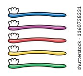 vector set of colorful... | Shutterstock .eps vector #1160728231