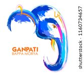 illustration of lord ganpati... | Shutterstock .eps vector #1160734657