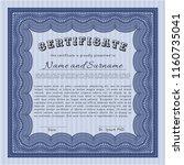 blue certificate or diploma... | Shutterstock .eps vector #1160735041