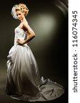 beautiful girl wearing... | Shutterstock . vector #116074345