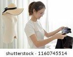 online small business owner... | Shutterstock . vector #1160745514