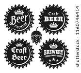 beer caps with text set of... | Shutterstock .eps vector #1160746414
