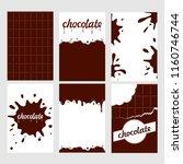 set of bright food cards. set... | Shutterstock .eps vector #1160746744
