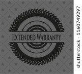 extended warranty black emblem. ... | Shutterstock .eps vector #1160749297