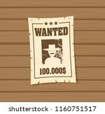 vintage wanted poster flat... | Shutterstock .eps vector #1160751517