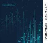 future city skyline... | Shutterstock .eps vector #1160752474