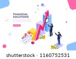 financial research concept.... | Shutterstock .eps vector #1160752531