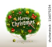 christmas bubble for speech  ... | Shutterstock .eps vector #116075254