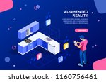 augmented reality visualization ... | Shutterstock .eps vector #1160756461