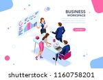 business workflow management ... | Shutterstock .eps vector #1160758201