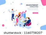 business adviser team.... | Shutterstock .eps vector #1160758207