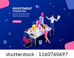 business adviser team.... | Shutterstock .eps vector #1160760697