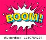 comics boom  comic vector... | Shutterstock .eps vector #1160764234