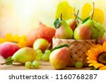 autumn still life with seasonal ... | Shutterstock . vector #1160768287