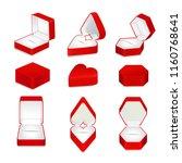 red velvet opened and closed...   Shutterstock .eps vector #1160768641