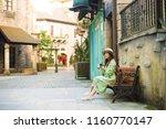 asian woman is enjoy traveling... | Shutterstock . vector #1160770147