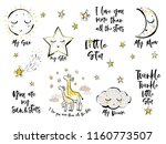 set of cute baby sky elements... | Shutterstock .eps vector #1160773507