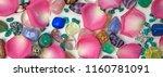 petals and crystals holistic... | Shutterstock . vector #1160781091