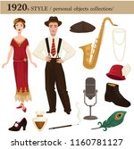 1920 fashion style man and... | Shutterstock .eps vector #1160781127