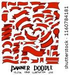 set of banner doodle vector.... | Shutterstock .eps vector #1160784181