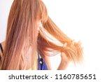 closeup portrait of female...   Shutterstock . vector #1160785651