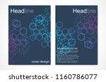 scientific brochure design... | Shutterstock .eps vector #1160786077