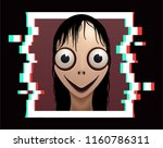 scary female demon with big... | Shutterstock .eps vector #1160786311