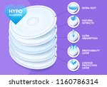 extra soft layered disposable... | Shutterstock .eps vector #1160786314