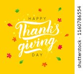 thanksgiving day typography.... | Shutterstock .eps vector #1160786554