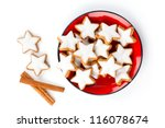 Star Shaped Cinnamon Biscuit On ...
