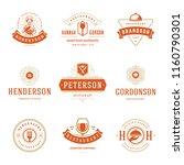 restaurant logos design... | Shutterstock .eps vector #1160790301