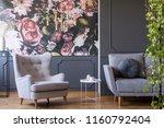 golden pendant light above a... | Shutterstock . vector #1160792404