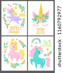 set of four vector posters with ...   Shutterstock .eps vector #1160792977