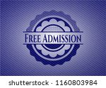 free admission emblem with jean ... | Shutterstock .eps vector #1160803984