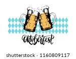 oktoberfest  lettering on on...   Shutterstock .eps vector #1160809117