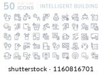 set of vector line icons of... | Shutterstock .eps vector #1160816701