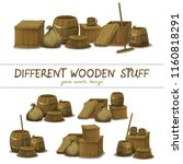 wooden stuff like a box  barrel ...