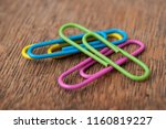 Closeup Of Colorful Paperclips...