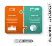 vector infographics template... | Shutterstock .eps vector #1160820217