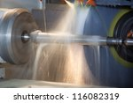 close up of cnc machine at work | Shutterstock . vector #116082319