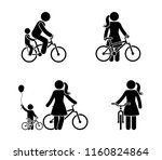 stick figure man and woman... | Shutterstock .eps vector #1160824864
