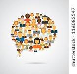 speech bubble made of different ... | Shutterstock .eps vector #116082547