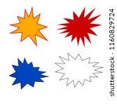 bursting speech star. vector...   Shutterstock .eps vector #1160829724